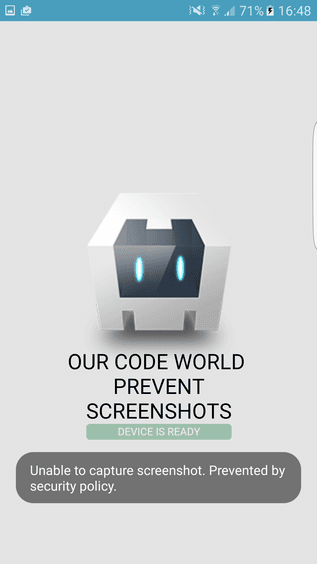Prevent screenshots android cordova
